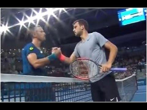 Grigor Dimitrov vs. Steve Johnson 6-2, 6-3 Brisbane International (R32) 02.01.2017.