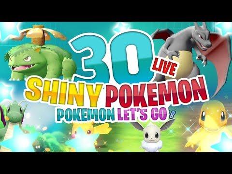 30 SHINY POKEMON REACTIONS! Pokemon Let's Go Pikachu Evoli
