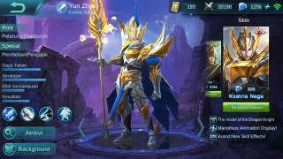 Yun Zhao New Skin Dragon Knight Gameplay Mobile Legends Indonesia