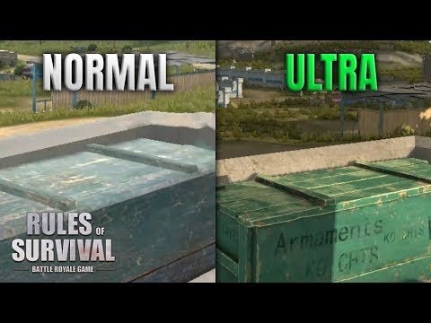 NEW ULTRA GRAPHICS + BULLET DROP IN RULES OF SURVIVAL!
