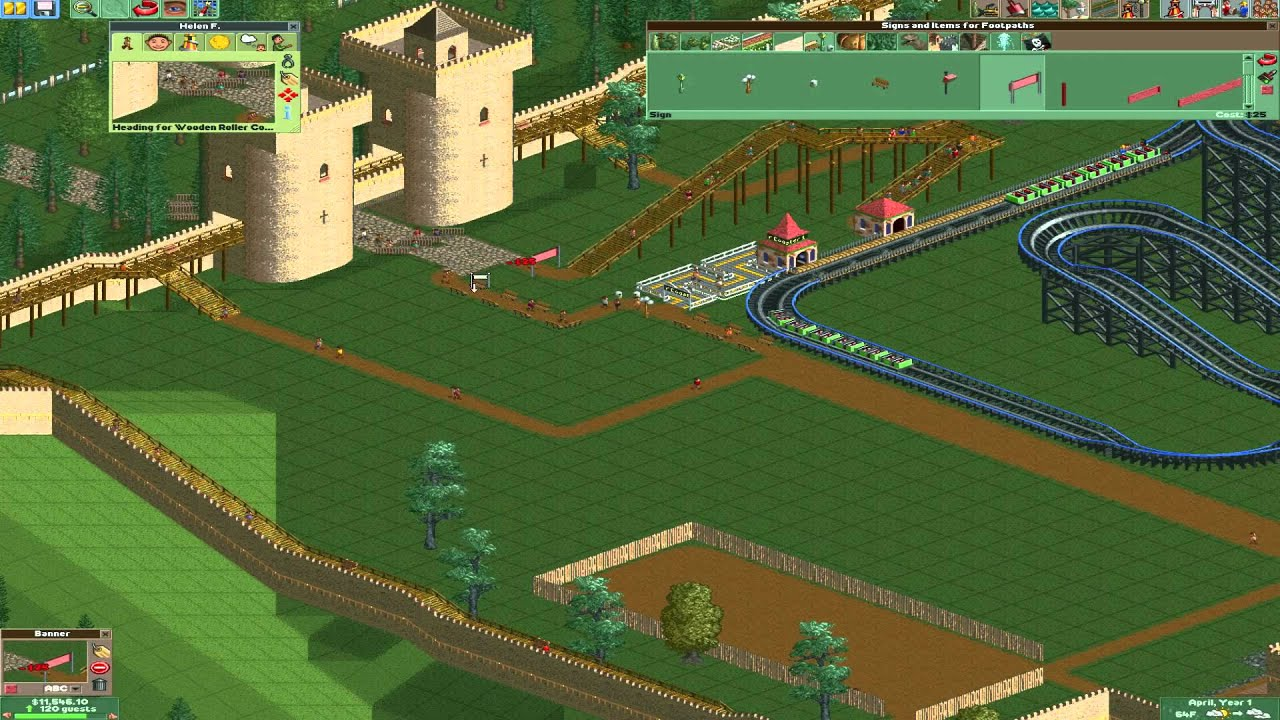 How to turn objects - Roller Coaster Tycoon 2