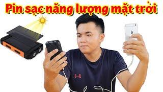 REVIEW Pin sạc năng lượng mặt trời có như quảng cáo? Kiên Review