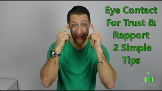 2 Secret Eye Contact Tips To Convey Trust
