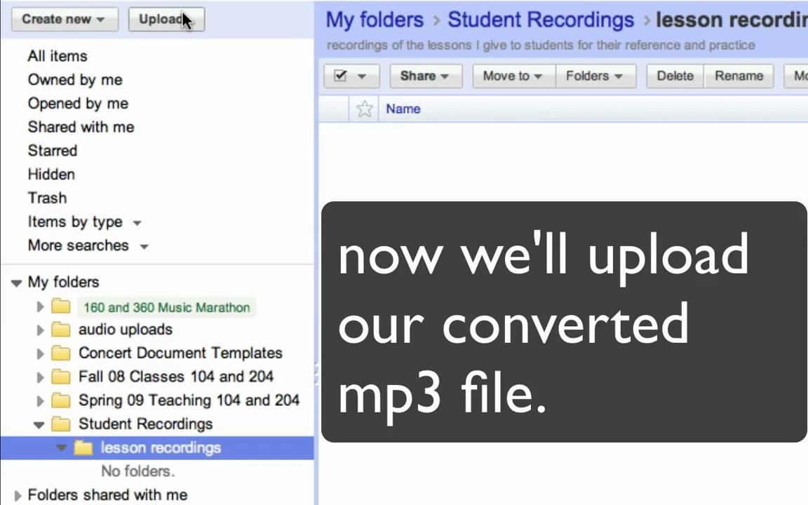 upload audio to google docs for students.mov - YouTube