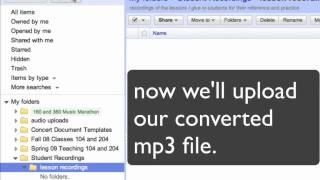 Uploading to Google Doc Demo