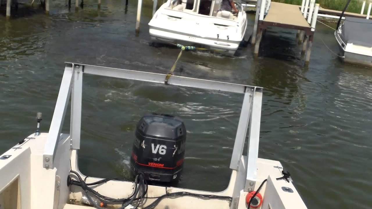 How To pull a boat off a lift when the water level is ...