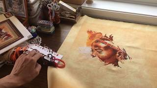 Вышивка Крестом. Ланарте Африканская Женщина магазин Мир  Вышивки