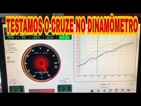 TESTAMOS O CHEVROLET CRUZE 1.8 16V NO DINAMÔMETRO