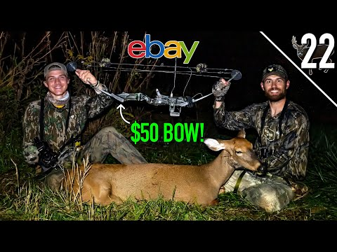 DEER HUNTING with 35 YEAR OLD BOW!! – (USED BOW CHALLENGE!)