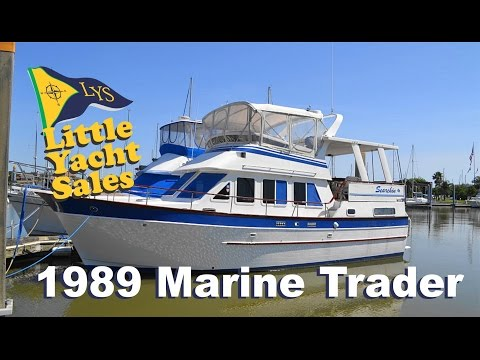 SOLD!!! 1989 Marine Trader 40 Trawler Yacht for sale at Little Yacht Sales, Kemah Texas