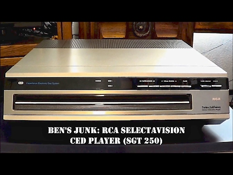 Oddity Archive: Episode 121.5 – Ben's Junk: RCA Selectavision CED Player SGT 250