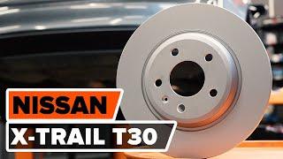 Kaip pakeisti priekiniai stabdžių diskai ir stabdžių kaladėlės NISSAN X-TRAIL T30 PAMOKA | AUTODOC