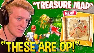 "TFUE *SHOCKED* FINDING OUT ""TREASURE MAPS"" ARE SUPER OVERPOWERED! - Fortnite Moments"