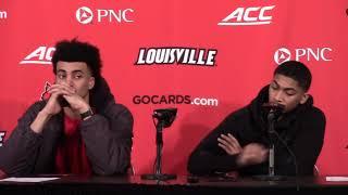 MBB: Jordan Nwora & Chisten Cunningham vs Duke Postgame Interview