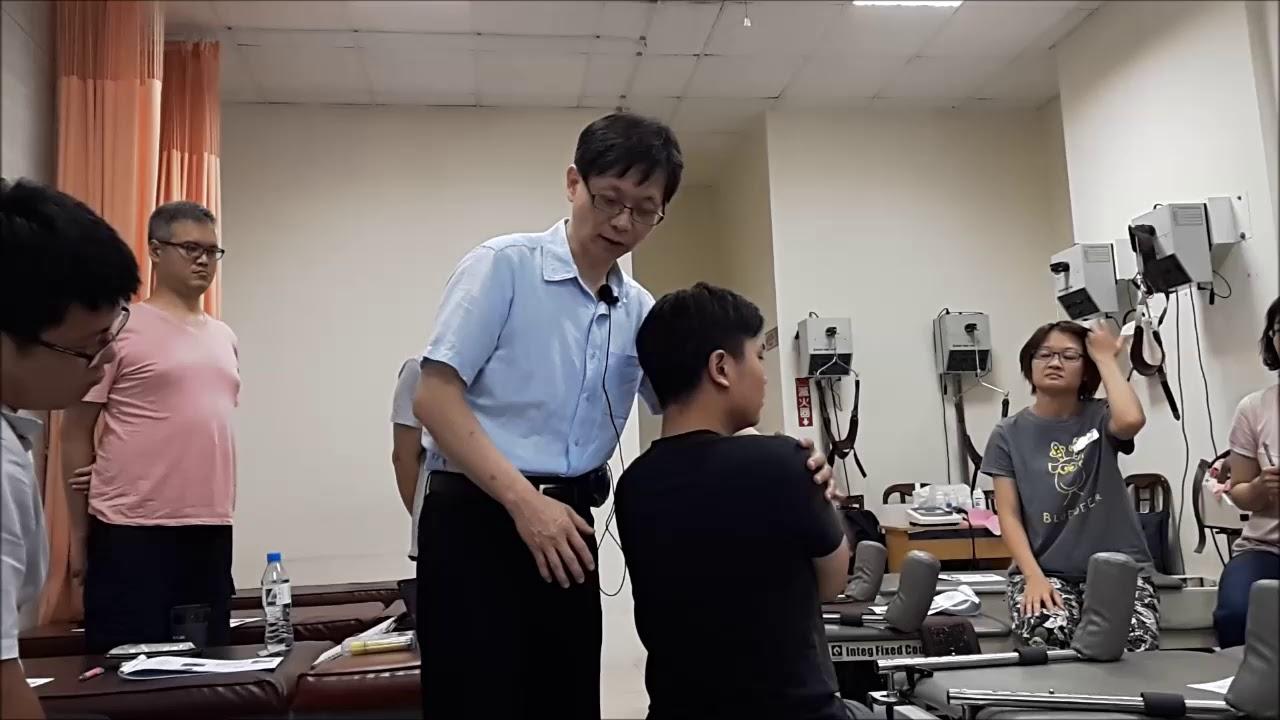 譚仕馨副教授106年 徒手治療 美國骨病醫師整脊術 Osteopathic doctor Mobilization with impulse technique -thoracic spine - YouTube