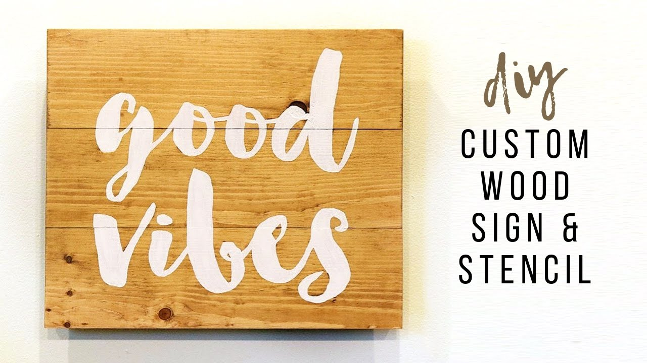 Easy Diy Wood Sign How To Make A