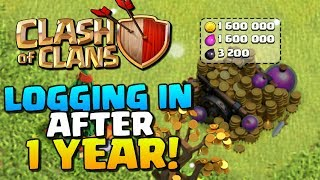 *PLAYING AFTER 1 YEAR* ▶ Clash of Clans ◀ TH8 Dragon's Lair ep1