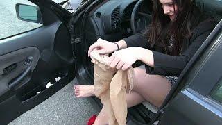 Pedal Vamp - Miss Iris stockings used in