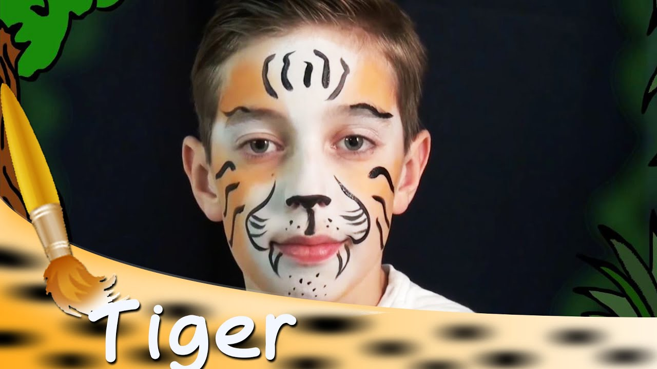 Kinderschminken Tiger Kinderschminken Tiger Gesicht Tutorial Hd