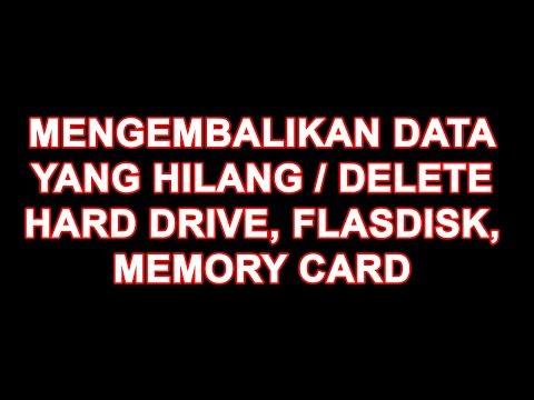 Cara memulihkan file hilang atau sd card yang terformat Hanya sekedar sharing, semoga bermanfaat bua.