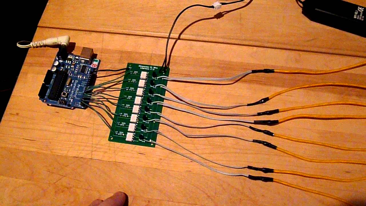 attoparsec 8 channel el wire interface kit demo youtube rh youtube com EL Wire Lights DC to AC Inverter Schematic