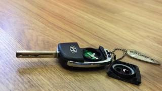 Замена батарейки в автомобильном ключе Hyundai Solaris