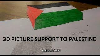 DRAWING 3D FLAG PALESTINE
