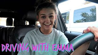 DRIVING WITH EMMA! KICK OFF TO SUMMIT CHEER PARTY! | EMMA AND ELLIE
