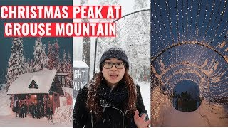 EXPLORING VANCOUVER | Christmas Peak at Grouse Mountain