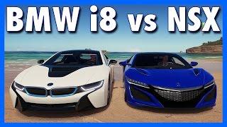 Forza Horizon 3 Online : BMW i8 vs ACURA NSX!!! (Hybrid Showdown)