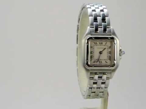 4edcc60753ec Reloj Cartier Panthere Acero De Dama Brumat - YouTube