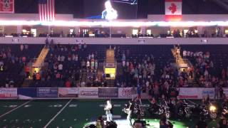Keith Armstrong sings National Anthem Texas Revolution Football
