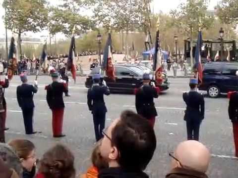 End of WWI ceremony at Arc de Triomphe- Meet Nicolas Sarkozy and Angela Merkel