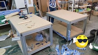building a aluminum profile workbench woodworking bench