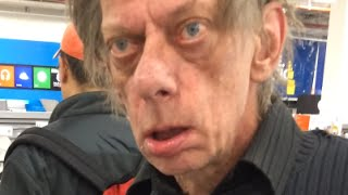 Bug-eyed Crackhead in Best Buy - Don Knotts Buscemi - (Filmed by NECRO)(, 2016-02-21T19:32:56.000Z)