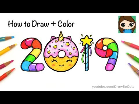 how-to-draw-+-color-2019-bubble-numbers-|-unicorn-donut