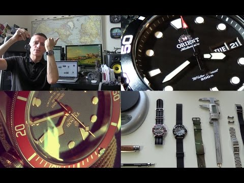 A Diver Watch Double Review Special - Tudor Heritage Black Bay Red & Orient Ray Raven II Black PVD