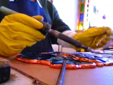 Making A Piece Of Stained Glass Garden Art