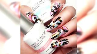 LeChat Abstract Spring Nails