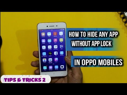 How To Hide Apps Without Any Thirdparty App Lock In Oppo A37