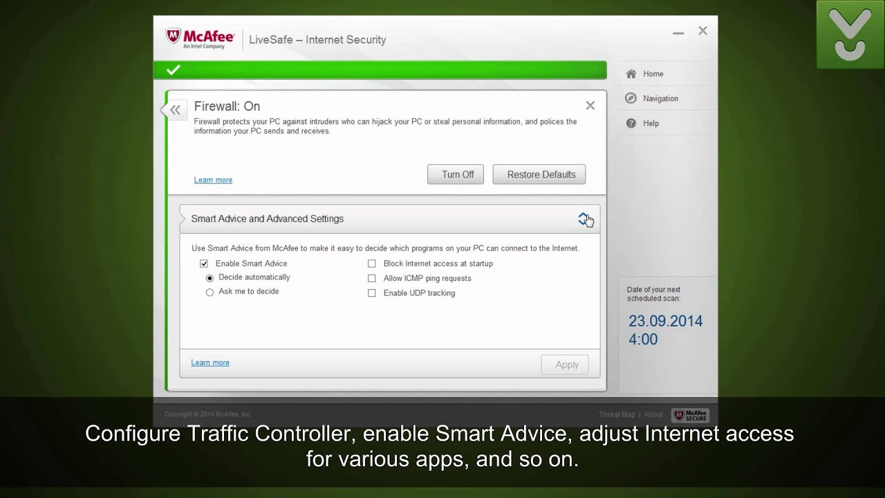 mcafee livesafe internet security