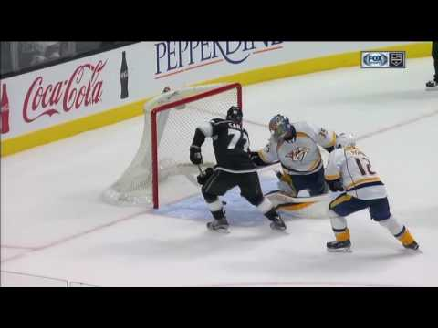 Jeff Carter Scores on Pekka Rinne | Kings Beat Predators 3-2