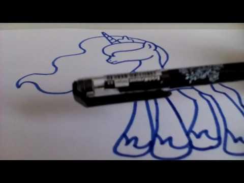 Как нарисовать пони селестию и луну