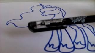 Как нарисовать пони Принцесса Луна