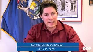 Sen. MacDonald: The Tax Deadline has Moved!