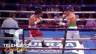 ¡Pintoresca victoria! Luis Flores supera a Solano por KOT | Boxeo Telemundo | Telemundo Deportes