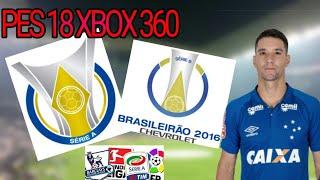 MEGA PATCH V1 !!! SERIE B DO BRASILEIRÃO ,FACES ,TATOO,ESTADIOS OPCIONAIS (PES 18 XBOX 360)