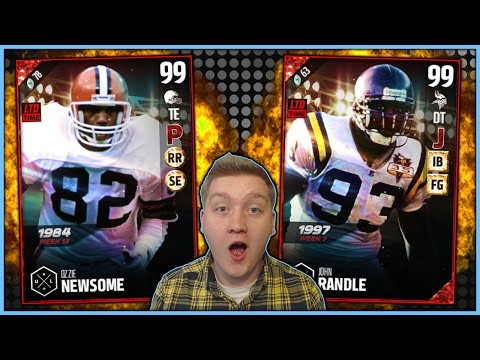 99 JOHN RANDLE AND 99 OZZIE NEWSOME! | NEW ULTIMATE LEGENDS! | MUT 17 PACK OPENING