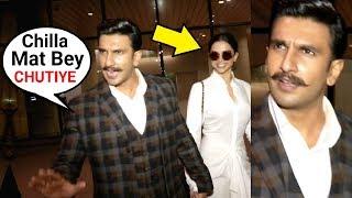 Ranveer Singh Gets ANGRY On Reporters For Shouting On Deepika Padukone