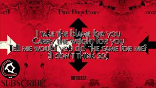 "Three Days Grace - Villain I'm Not (LYRIC VIDEO) [From the ""Outsider"" album 2018]"